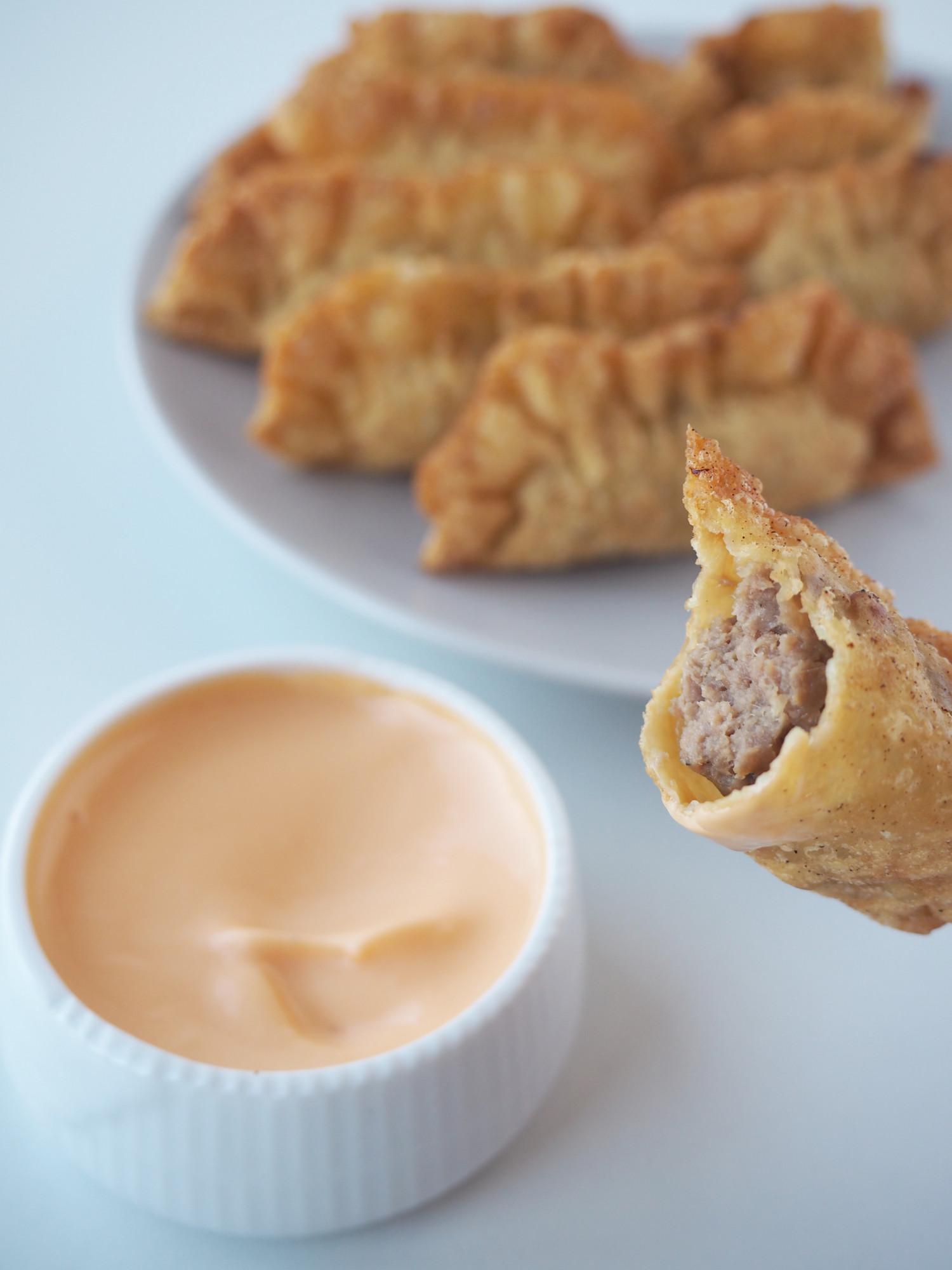 Sprøde wontons med kalvekød ala Beksemad inspireret af MasterChef