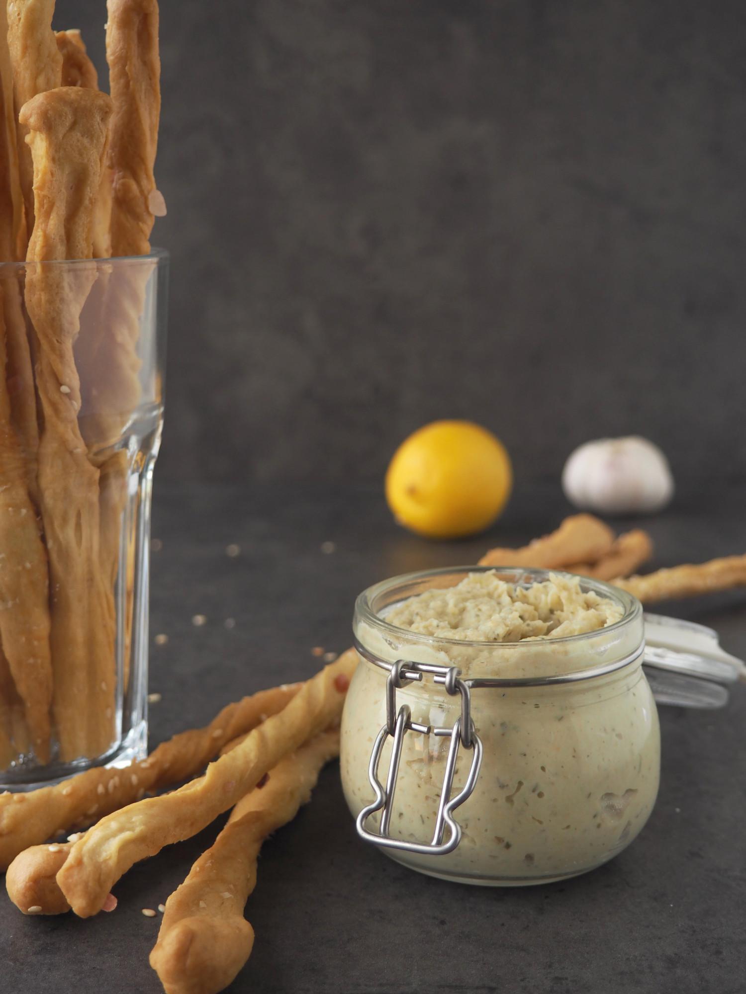 Grissini med artiskokcreme - sprøde brødstænger med artiskokdip ala Beksemad