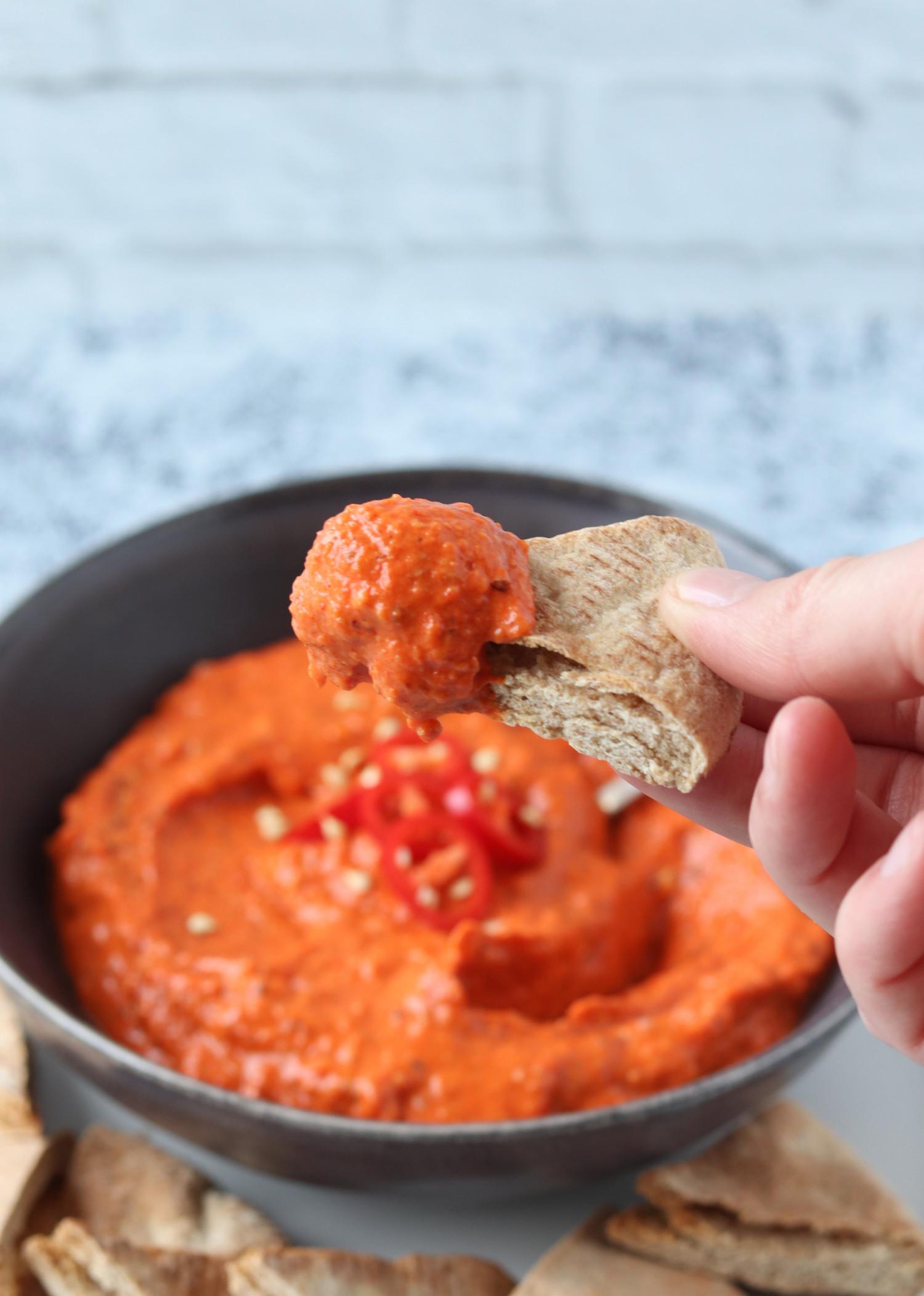 Romescosauce - Peberfrugtdip lavet på grillede peberfrugter - Romesco sauce ala Beksemad