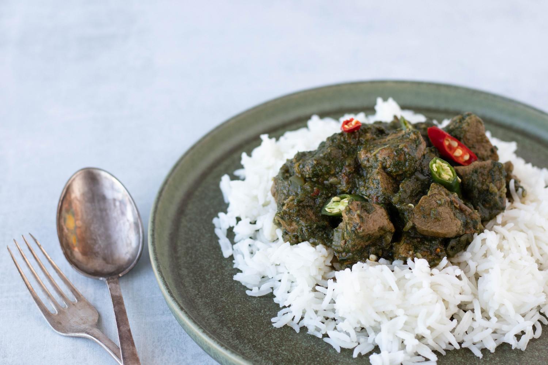 Lam saag - indisk lam i spinat curry ala Beksemad.dk