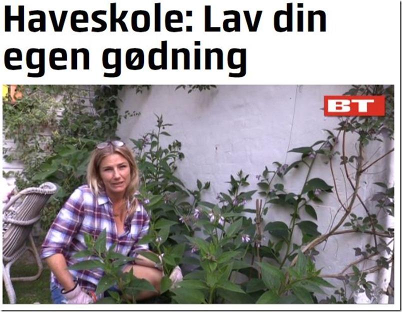 Kvistens haveskole lav din egen gødning Dorthe Kvist Meltdesignstudio BT TV