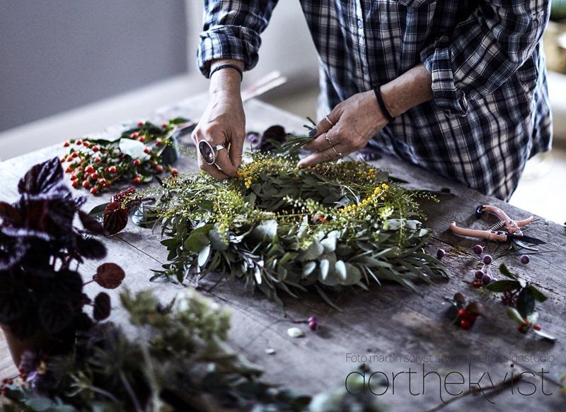 DIY Blomsterelskerens julekrans Foto Martin Sølyst Styling Dorthe Kvist Meltdesignstudio 1 (3)