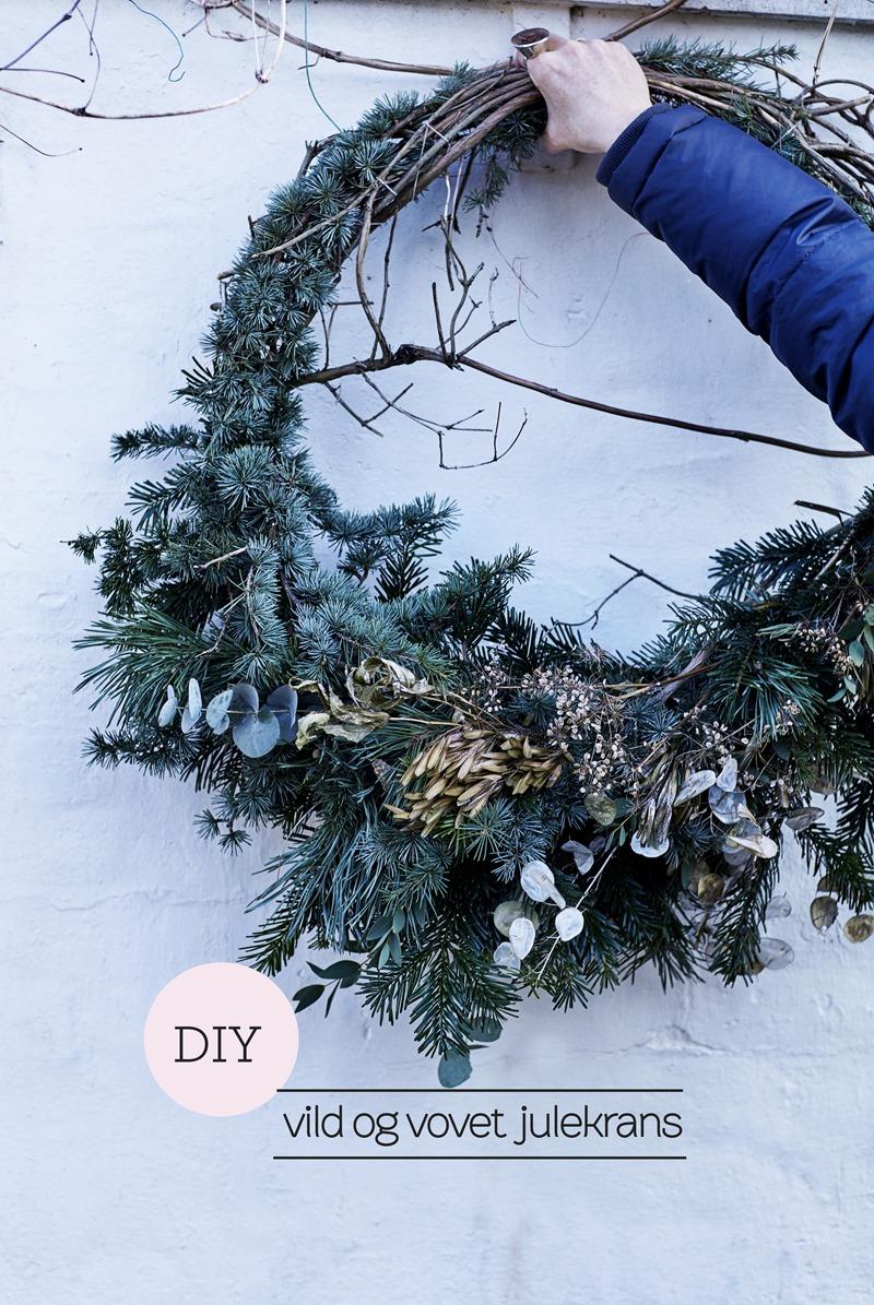 DIY Vild og vovet julekrans Foto Martin Sølyst Styling Dorthe Kvist Meltdesignstudio