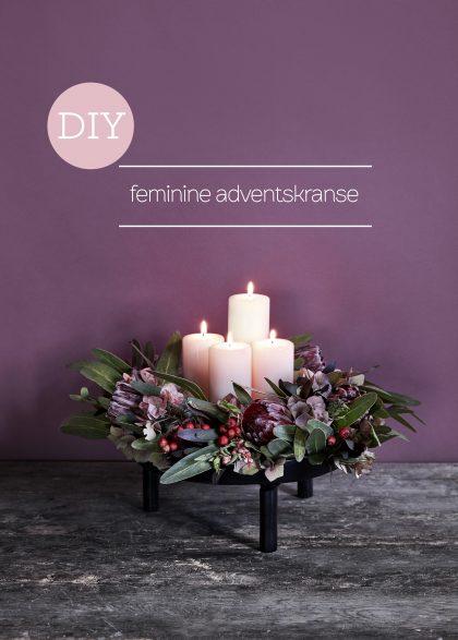 DIY Feminine dventskranse