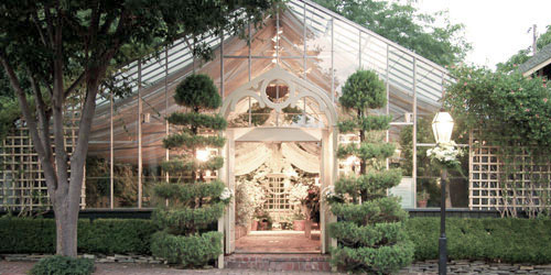 The Conservatory is an all-glass tropical gardenhouse wedding venue located in St. Charles, MO (St. Louis).