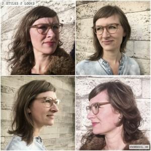 2 STYLES 2 LOOKS #assymetric #style #retro #upcycling #unikajulegaveshopping #hvorduvildk #hår #frisure #haircut #hairstyling #anjastorkholm #kunstner @anja_storkholm