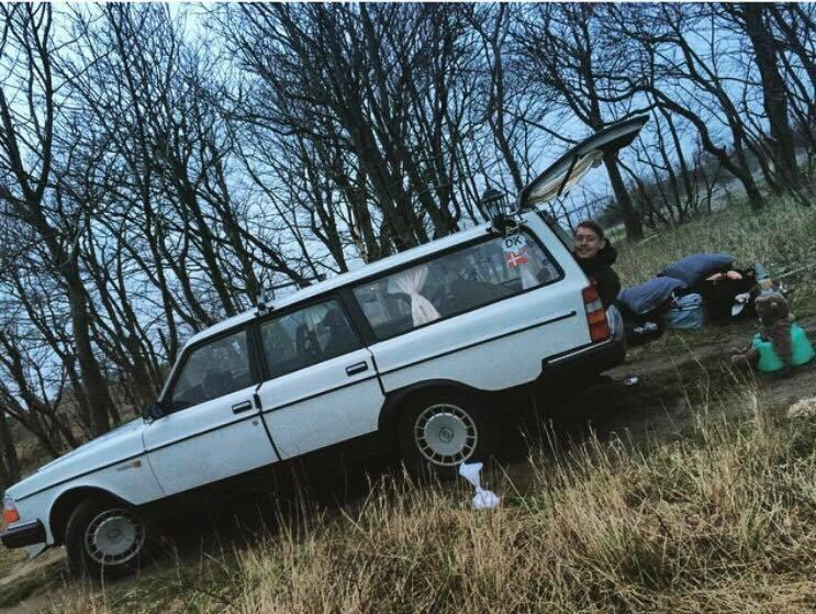 På tur i Volvoen