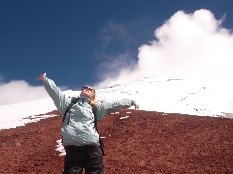 I 5000 meters højde på Ecuadors højeste vulkan Cotopaxi