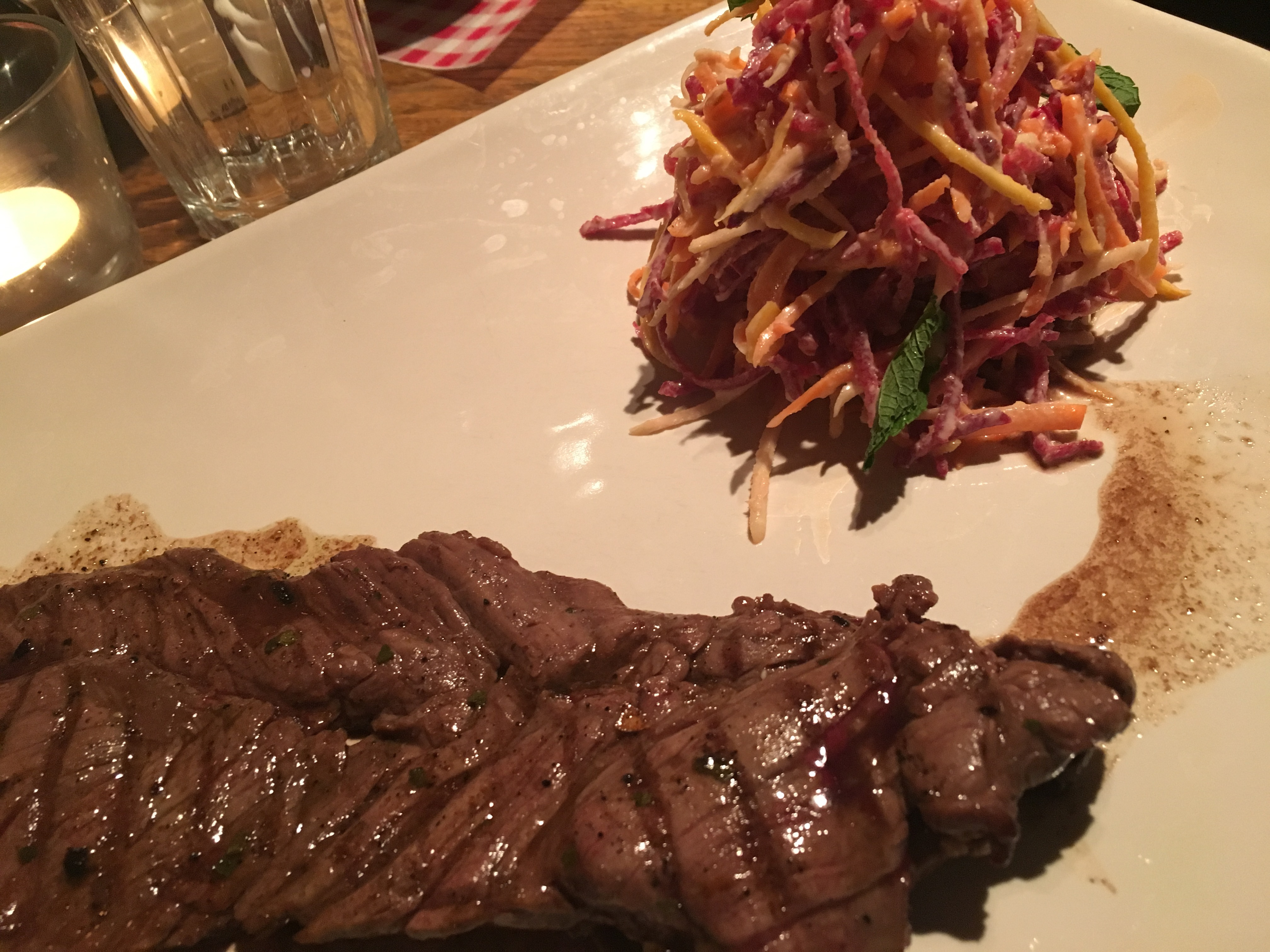 Italian Steak & Rainbow Slaw