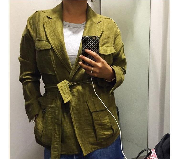 hm olive jakke