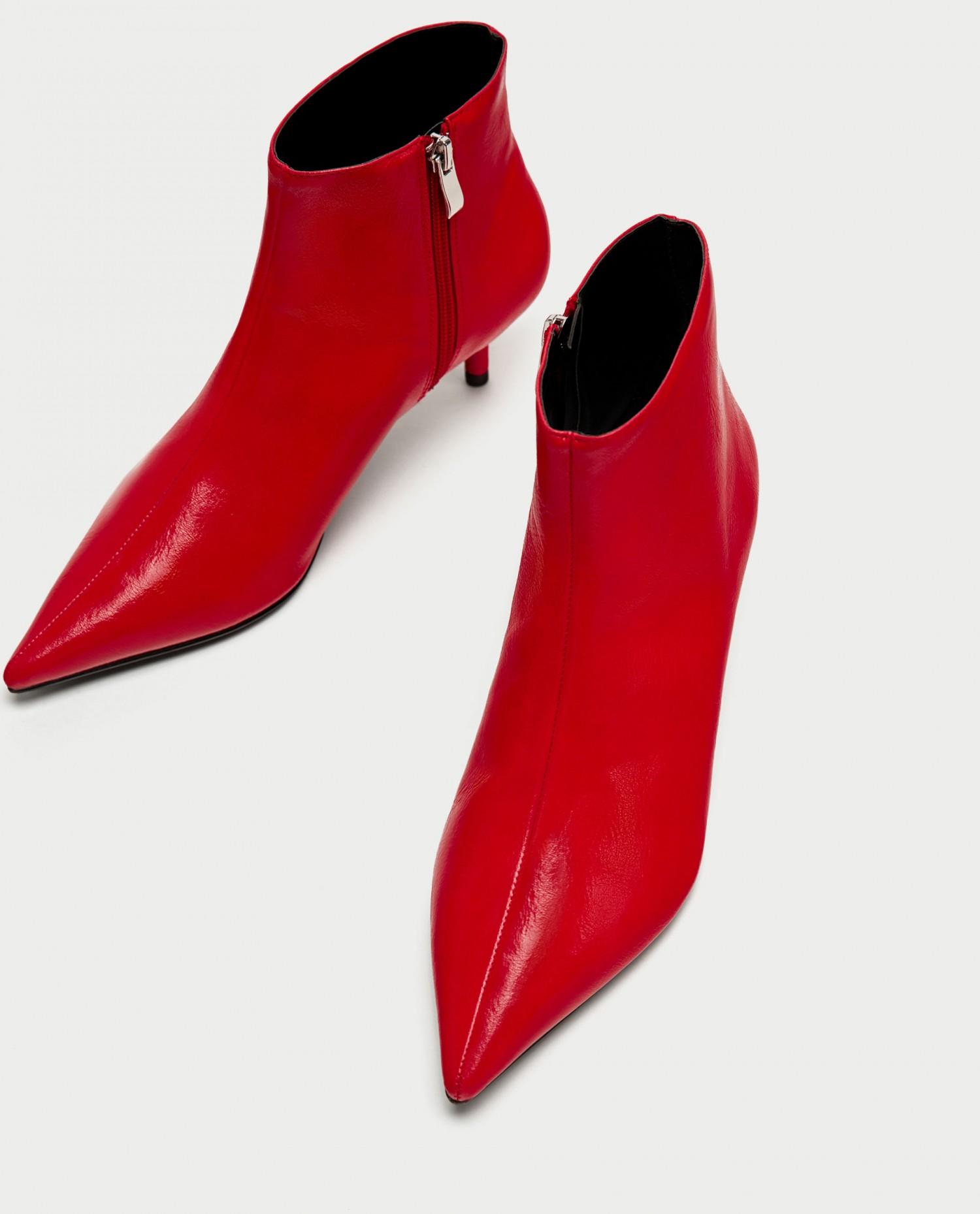 zara røde støvletter