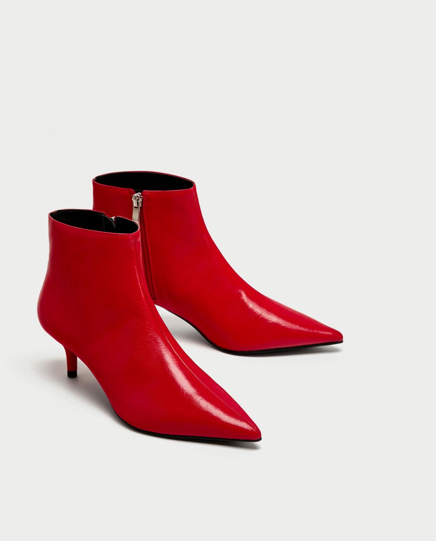 zara røde støvletter 2