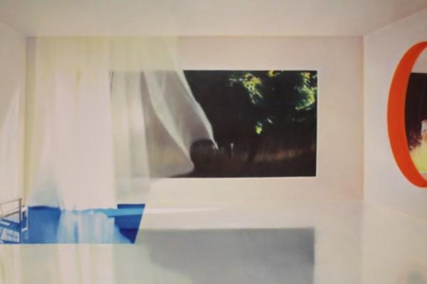 Et billede, som en af de andre stoppede op ved. Hvad er der på billedet? En pejs, et bassin og en udsigt. Vi er 100 % sikker på, at opgaven, som vi lavede i sidste weekend har været inspireret af dette værk ..!