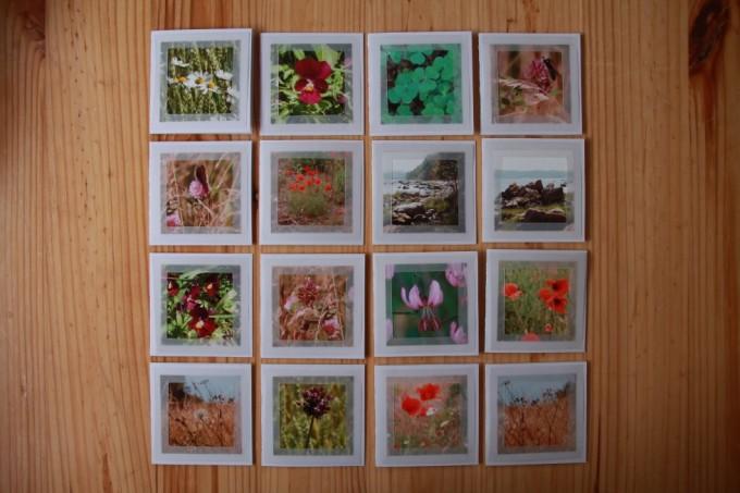 I alt 16 af de små gavekort, fik jeg produceret. Jeg har primært brugt de billeder, som jeg har taget på min ferie, men hvorfor ikke bruge et foto fra en anden god oplevelse eller noget, der hører årstiden til?