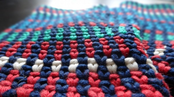 Et sjovt mønster, hvor farverne skifter på en anderledes måde.