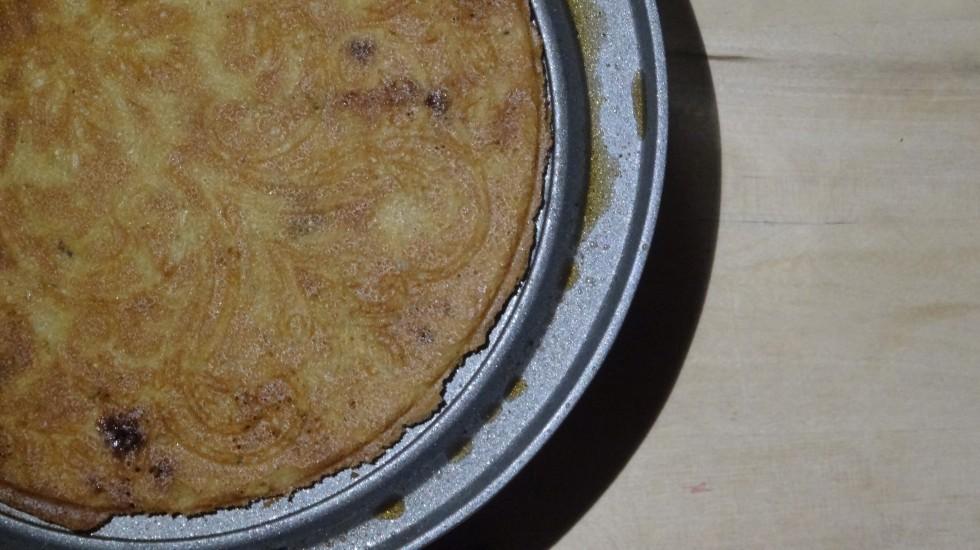 Næsten færdigbagt småkage.