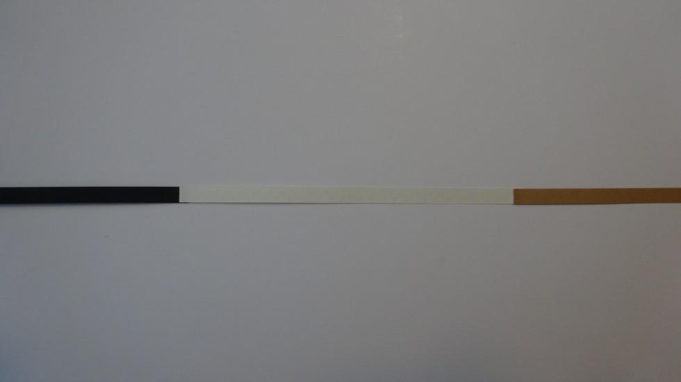 De tre farver limes sammen i denne rækkefølge.
