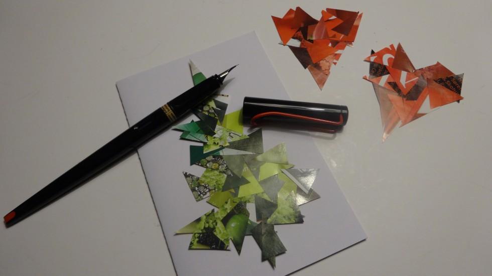 Det færdige resultat kan både bruges til pynt eller julekort eller ...