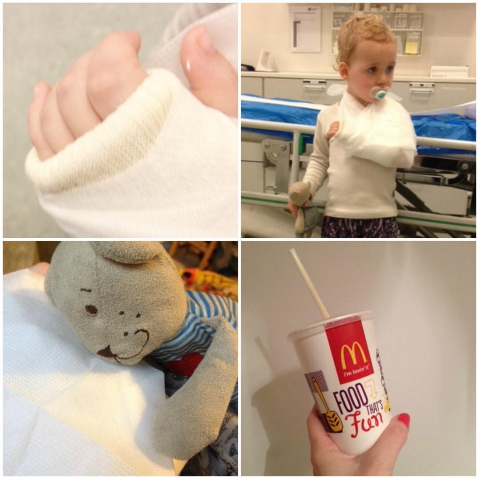 brækket arm