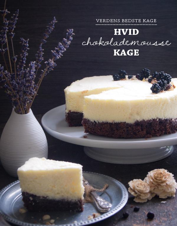 Hvid chokolademoussekage