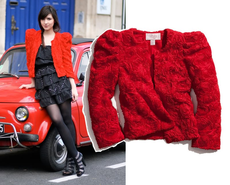 Den røde H&M Garden jakke