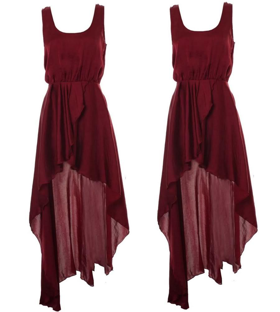 Køb: Vinrød maxi kjole