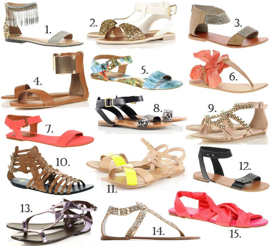 15 flade sandaler