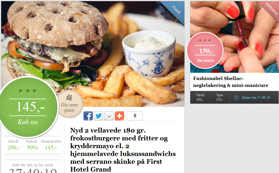 Downtown: Luksus burger og Shellac
