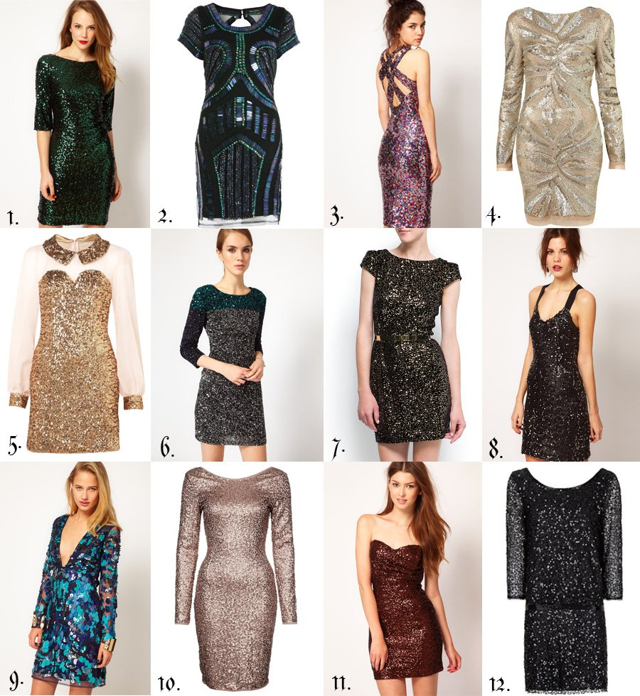 New years dresses: Glitter