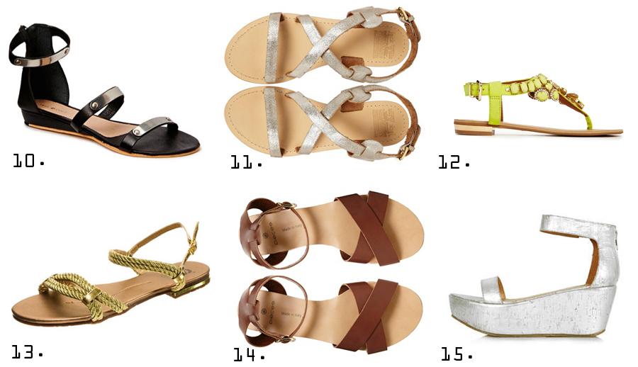 Sandaler under 400 kr
