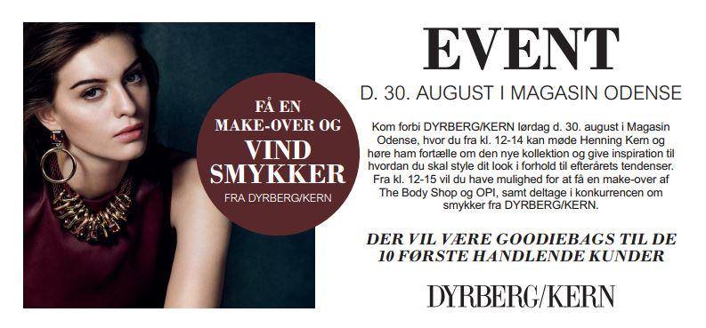 Mød mig til Dyrberg/Kern event i Odense!