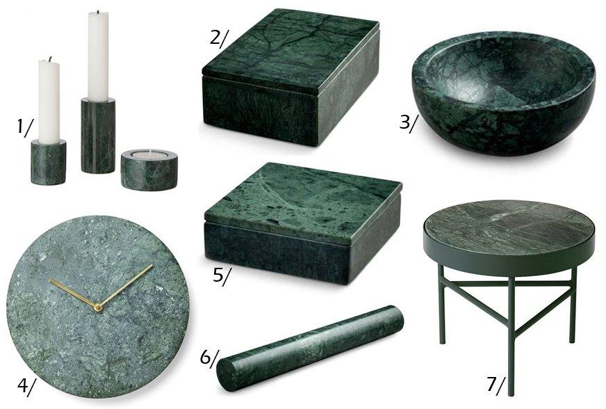 Trend: Grønt marmor til boligen