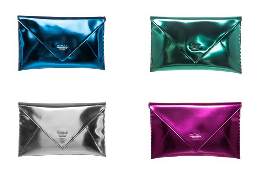 Guess glass candy clutch