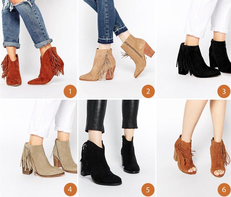 9 støvler med frynser