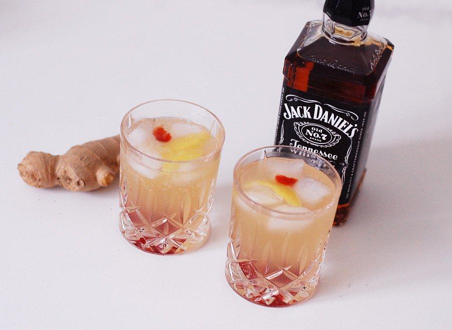 Whisky drinks med Frank og Jack
