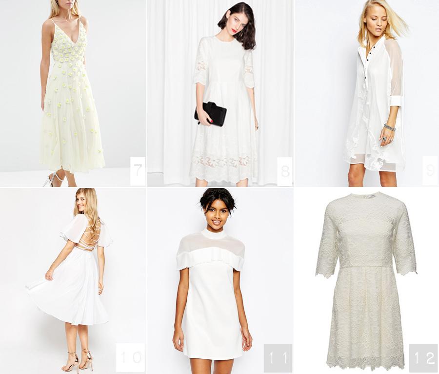 18 hvide (studenter) kjoler