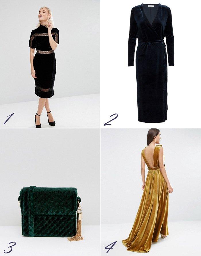 velour-velvet-crushed-nervost-taske-i-bag-purse-kjole-dress-galla-gala-asos-vila-julefrokost-green-blue-yellow-gul-sort-black