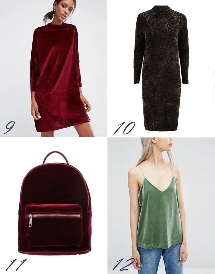 velour-velvet-kjole-dress-asos-fra-yas-leopard-patern-weekday-green-top-singlet-rygsak-back-pack-bordeaux