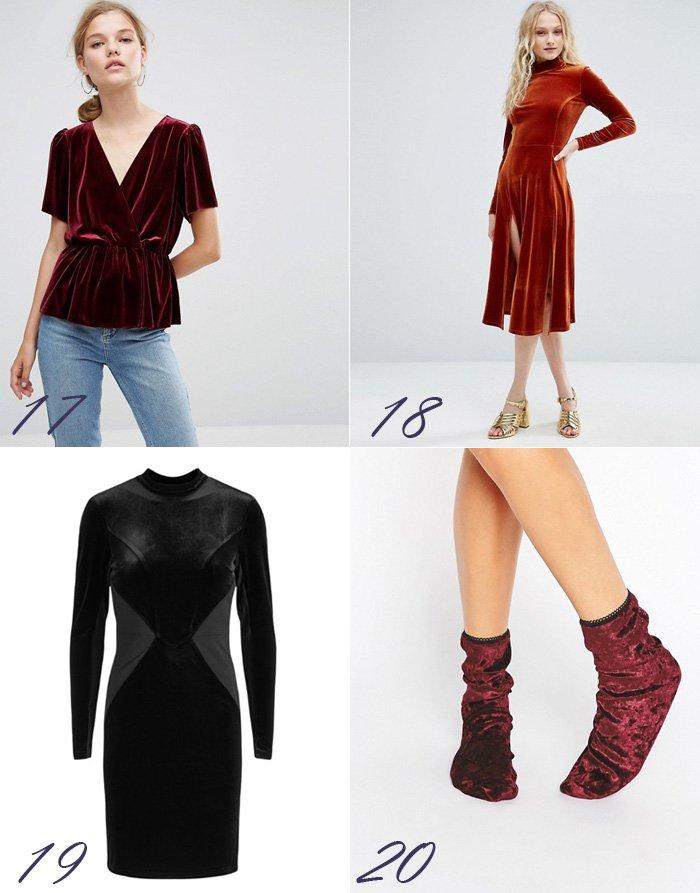 velour-velvet-top-peplum-yas-kjoler-til-julefrokost-70s-style-sokker-socks-bordeaux-black-sort-lbd-asos-fra-from-christmas-party