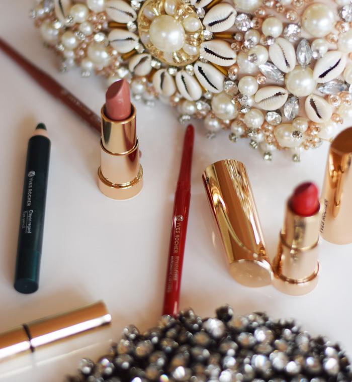 yves-rocher-make-up-til-julefrokost-lipliner-eye-pencil-lipstick-labestift-glitter-perler-missjeanett-look