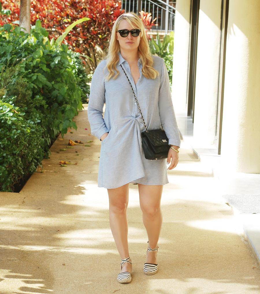 outfit-madeira-zara-kjole-blue-dress-tunika-missjeanett-blogger-fra-odense-odensebloggers-ray-ban-meteor-sunglasses-solbriller-tortoise-soludos-sandaler-sandals