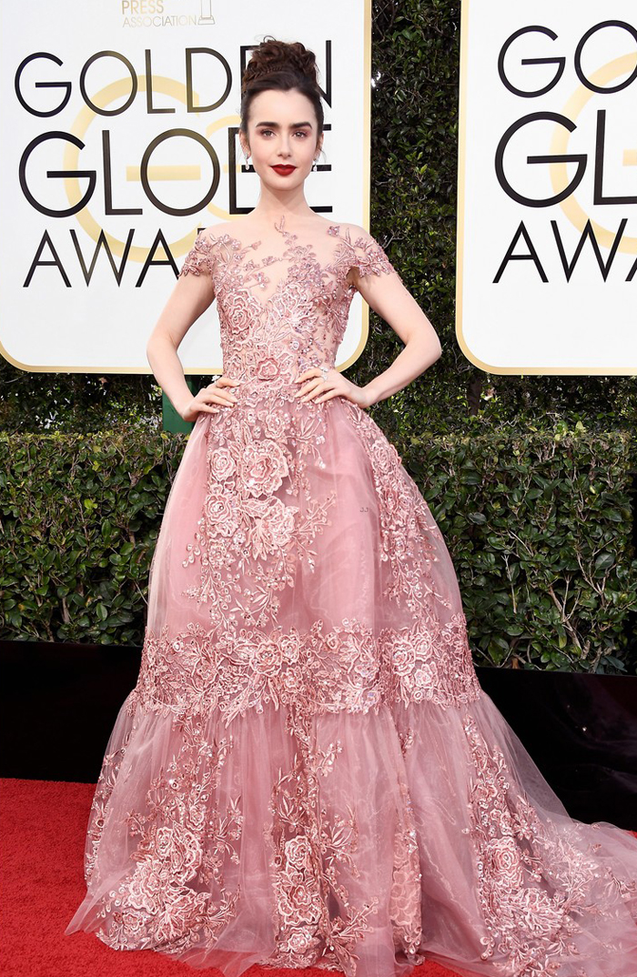 lily-collins-golden-globes-2017-zuhair-murad-worst-dressed