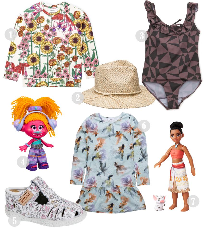 bella-befaler-trolls-mini-rodini-nyheder-blomster-print-flower-print-kavat-sandaler-molo-hat-vaiana-dukke-doll-moana-marmar-badedragt