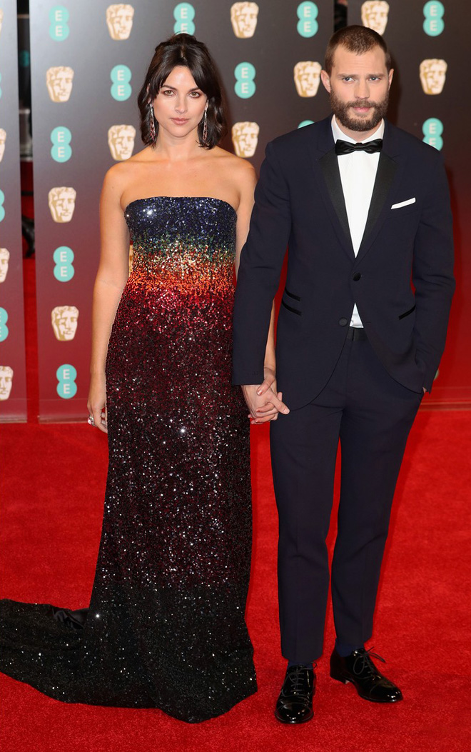 jamie-dornan-wife-amelia-warner-baftas-2017-in-ong-oaj-pairam-dress-best-dressed