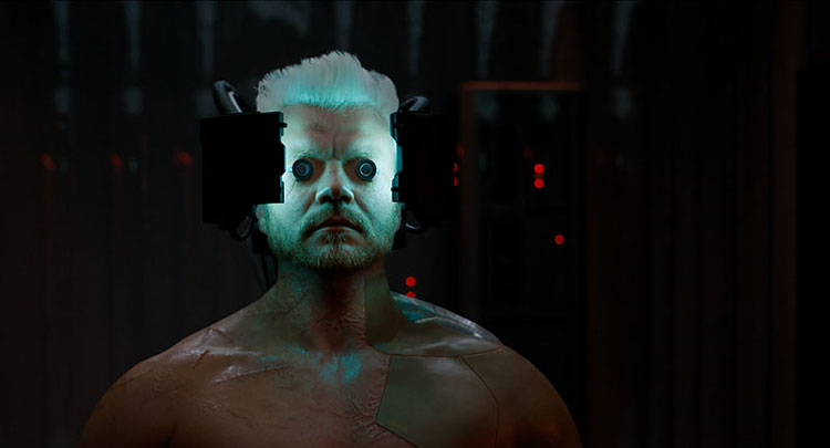Pilou Asbaek plays Batou in Ghost in the Shell from Paramount Pictures and DreamWorks Pictures.
