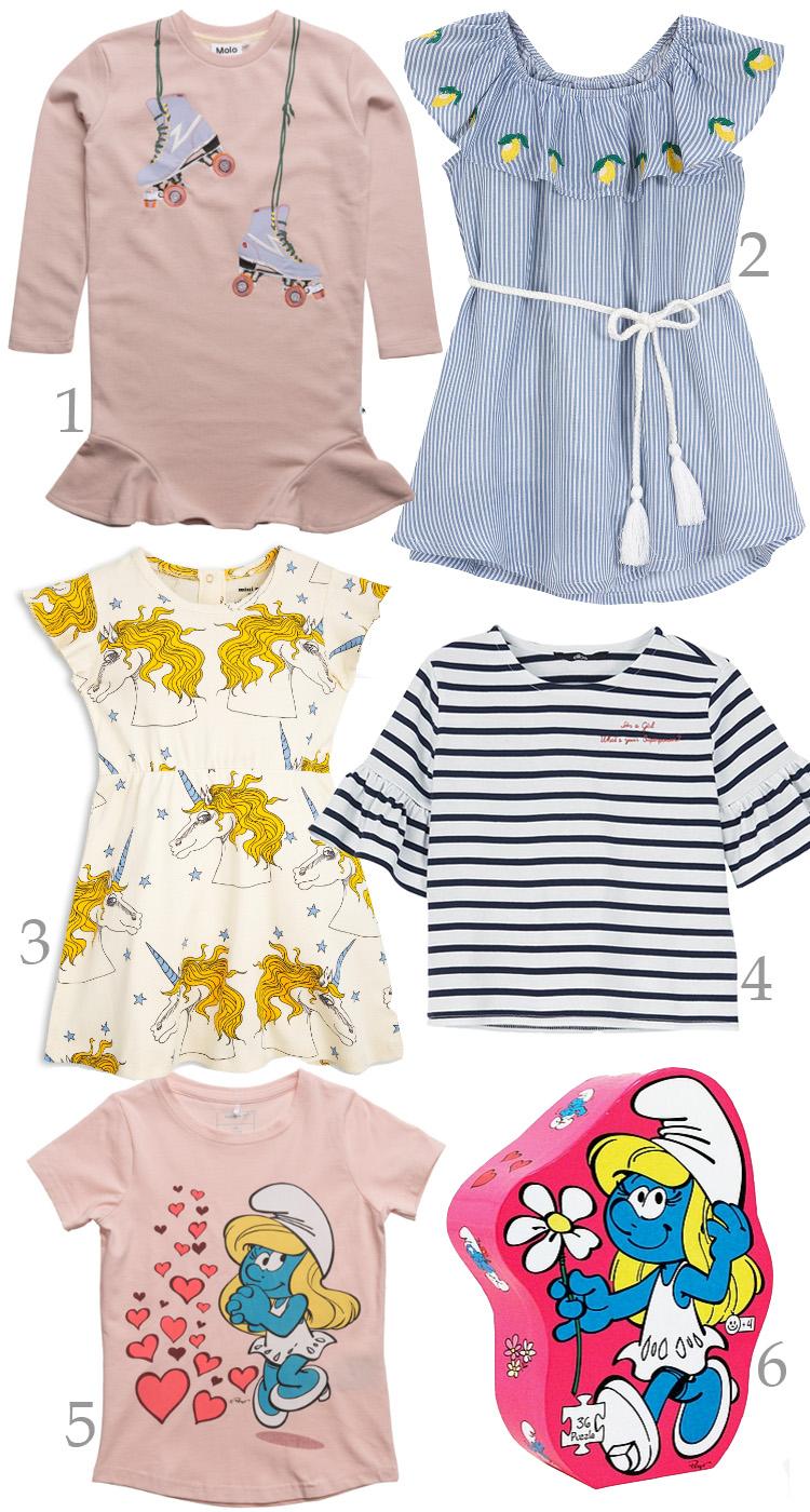 bella-befaler-juni-2017-molo-rulleskjoejter-mini-rodini-enhjoerning-kjole-ellos-x-fahrmanns-citron-kjole-lemon-smoelfine-smurf-puslespil-t-shirt-name-it