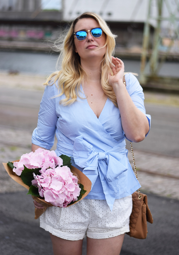 outfit-ellos-skjorte-shirt-hortensia-ootd-of-the-day-fashion-blogger-ray-ban-clubmaster-sunglasses-hm-conscious-shorts-missjeanett-jeanett-drevsfeldt