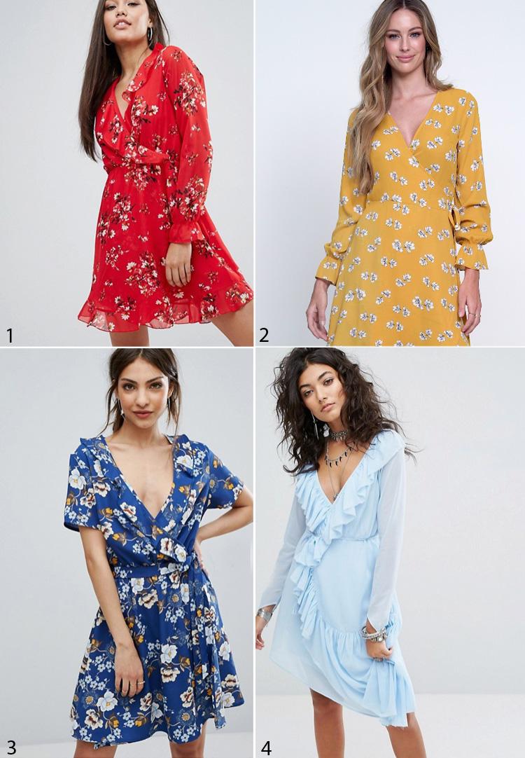 slaa-om-kjoler-wrap-dress-like-relation-par-red-flowers-blomser-frill-hem-flaeser-blaa-gul-asos-gina-tricot-missjeanett-blogger