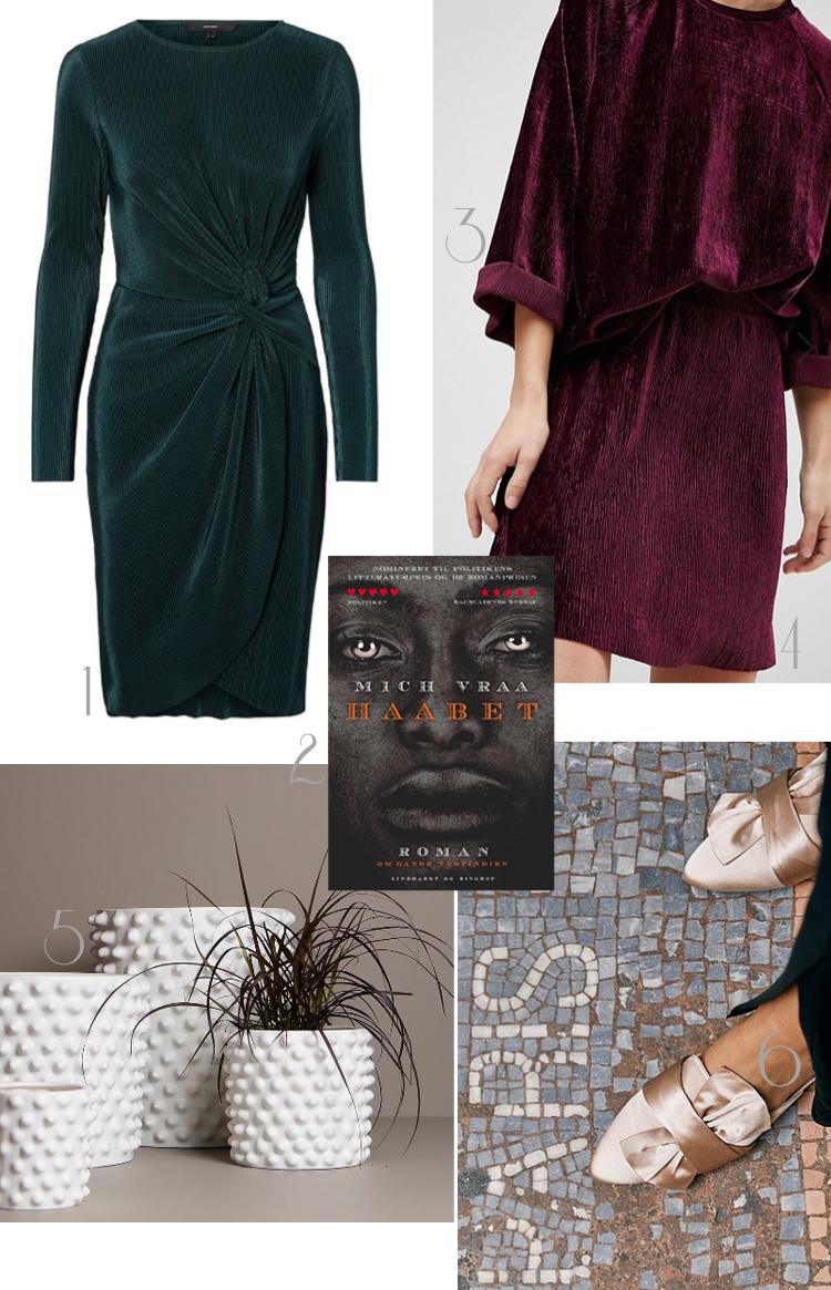 november-shopping-cravings-veor-moda-julefrokostkjole-haabet-mich-vraa-pieces-velour-saet-lilla-nederdel-bluse-fahrmanns-x-ellos-slippers-satin-silk