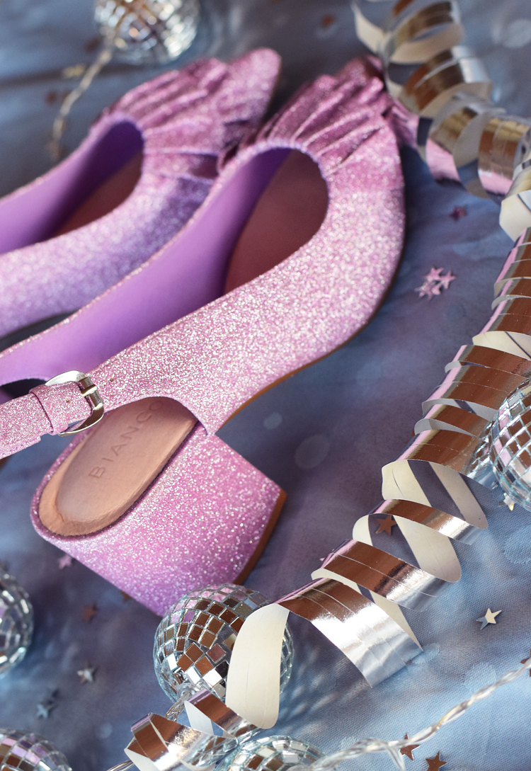 bianco-frill-pumps-lyseroede-pink-glitter-glimmer-nytaarssko-missjeanett-odensebloggers